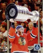 Patrick Kane with 2015 Stanley Cup SATIN 8x10 Photo