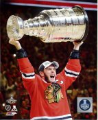 Jonathan Toews with 2015 Stanley Cup SATIN 8x10 Photo