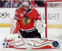 Corey Crawford 2015 Stanley Cup Game 3 SATIN 8x10 Photo