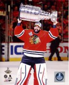 Corey Crawford with 2015 Stanley Cup SATIN 8x10 Photo