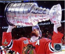 Duncan Keith with 2015 Stanley Cup SATIN 8x10 Photo