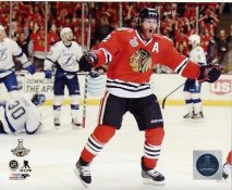 Duncan Keith 2015 Stanley Cup Game 6 Goal Celebration SATIN 8x10 Photo