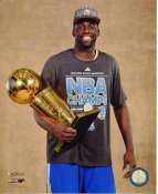 Draymond Green with 2015 NBA Champions Trophy Golden State Warriors SATIN 8X10 Photo LIMITED STOCK