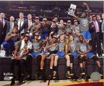 Golden State Warriors 2015 NBA Finals Celebration SATIN 8X10 Photo LIMITED STOCK
