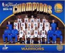 Golden State Warriors 2015 NBA Champions Sitdown SATIN 8X10 Photo LIMITED STOCK