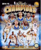 Golden State Warriors 2015 NBA Champions Composite SATIN 8X10 Photo LIMITED STOCK