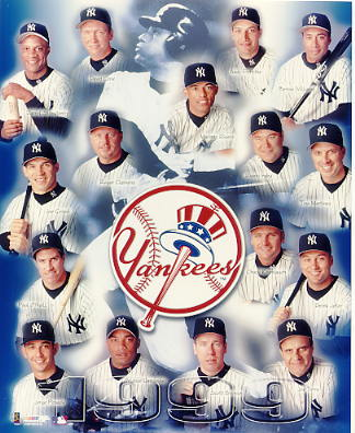 Yankees 1999 New York Team Mariano Rivera, Andy Pettitte, Bernie Williams, Joe Girardi, Orlando Hernandez, Joe Girardi SUPER SALE 8X10 Photo