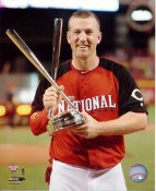 Todd Frazier with 2015 Home Run Derby Champion Trophy Washington Nationals SATIN 8X10 Photo