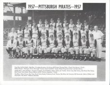 Pirates 1957 Dick Groat, Bob Friend, Bill Mazeroski Pittsburgh Original Team Photo Cardstock Comes In Topload 8.5X11 Photo