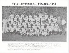Pirates 1959 Roberto Clemente, Dick Groat, Bob Friend, Bill Mazeroski Pittsburgh Original Team Photo Cardstock Comes In Topload 8.5X11 Photo