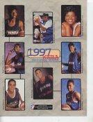 Toni Foster, Anita Maxwell, Sheryl Swoopes, Trena Trice, Denique Graves, Jamila Wideman, Rhonda Mapp, Kim Williams 1997 Inaugural Season WNBA 8.5X11 Photo LIMITED STOCK
