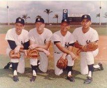 Clete Boyer, Tony Kubek, Bobby Richardson, Joe Pepitone New York Yankees  LIMITED STOCK 8X10 Photo