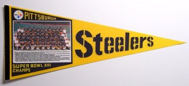 Steelers 1979 Original Super Bowl XIII Steeler Pennant