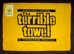Steelers 1990's Original Officially Licensed Terrible Towel with Tag Purchased from J. Marcus Wholesale in Pittsburgh