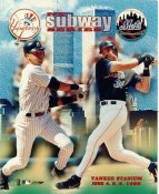 Mike Piazza & Derek Jeter NY Mets / Yankees Subway Series 1999 LIMITED STOCK 8X10 Photo
