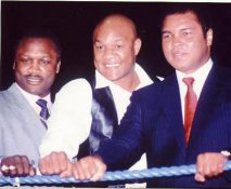 Joe Frazier, Muhammad Ali, George Foreman LIMITED STOCK 8x10 Photo