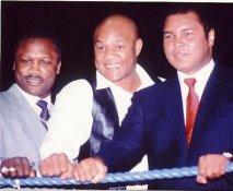Joe Frazier, Muhammad Ali, George Foreman LIMITED STOCK 8x10 Photo