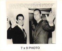 Don Drysdale & Sandy Koufax LA Dodgers 1966 Original Press Photo w/ Sporting News Sticker on Back Slight Corner Crease 7x9