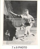 Don Drysdale LA Dodgers 1962 Original Press Photo w/ Sporting News Sticker on Back Slight Creases 7x9