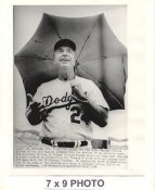 Walt Alston LA Dodgers 1974 Original Press Photo w/ Sporting News Sticker on Back Slight Creases 7x9