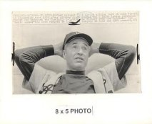 Walt Alston LA Dodgers 1966 Original Press Photo w/ Sporting News Sticker on Back Slight Creases 5x8