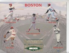 Dwight Evans, Luis Tiant, Carl Yastrzemski, Fred Lynn & Bobby Doerr Boston Red Sox Limited Numbered Spectrum Diamond Club 8.25X10.5 Photo