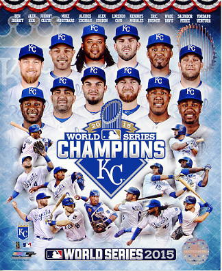 Royals 2015 World Series Champions Composite Kansas City SATIN 8x10 Photo