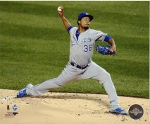 Edinson Volquez 2015 World Series Game 5 Kansas City Royals SATIN 8X10 Photo