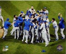 Royals 2015 World Series Champions Celebrating Kansas City SATIN 8x10 Photo