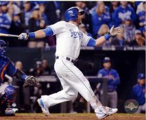 Alex Gordon 2015 World Series Game 1 Home Run Kansas City Royals SATIN 8X10 Photo