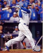 Mike Moustakas 2015 World Series Game 2 RBI Single Kansas City Royals SATIN 8X10 Photo