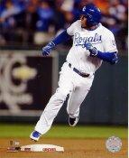 Alcides Escobar 2015 World Series Inside The Park Home Run Kansas City Royals SATIN 8X10 Photo