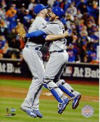 Wade Davis & Drew Butera 2015 World Series Game 5 Win Kansas City Royals SATIN 8X10 Photo