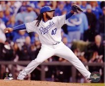 Johnny Cueto 2015 World Series Game 2 Kansas City Royals SATIN 8X10 Photo