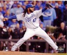 Johnny Cueto 2015 World Series Game 2 Kansas City Royals SATIN 8X10 Photo