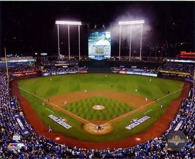 N2 Kauffman Stadium 2015 World Series Game 1 SATIN 8X10 Photo