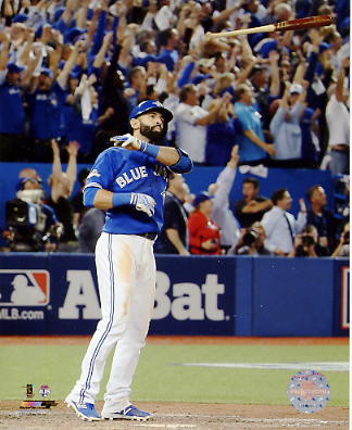 Jose Bautista 3 Run Home Run 2015 A.L. Division Series Game 5 Blue Jays SATIN 8X10 Photo