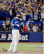 Jose Bautista 3 Run Home Run 2015 A.L. Division Series Game 5 Blue Jays SATIN 8X10 Photo