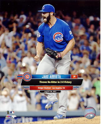 Jake Arrieta No Hitter August 30, 2015 at Dodgers Stadium Chicago Cubs SATIN 8X10 Photo
