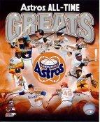Jeff Bagwell, Craig Biggio, Lance Berkman, Jimmy Wynn, Joe Morgan, Joe Niekro, Nolan Ryan All Time Greats Houston Astros SATIN 8X10 Photo