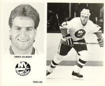 Greg Gilbert 1985-86 New York Islanders LIMITED STOCK 8x10 Photo