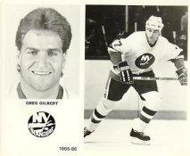 Greg Gilbert 1985-86 New York Islanders LIMITED STOCK 8x10 Photo