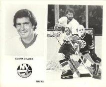 Clark Gillies 1981-82 New York Islanders LIMITED STOCK 8x10 Photo