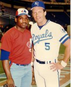 George Brett & Tim Raines Kansas City Royals / Montreal Expos LIMITED STOCK 8X10 Photo