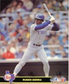 Ruben Sierra Texas Rangers Glossy Card Stock LIMITED STOCK 8x10 Photo