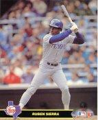 Ruben Sierra Texas Rangers Glossy Card Stock LIMITED STOCK 8x10 Photo