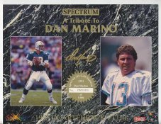 Dan Marino Miami Dolphins 1993 Quarterback Club Promo Version Spectrum With Gold Signature  8.25X10.5 Photo