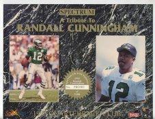 Randall Cunningham Philadelphia Eagles 1993 Quarterback Club Promo Version Spectrum With No Gold Signature 8.25X10.5 Photo