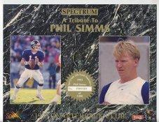 Phil Simms 1993 Quarterback Club Promo Version Spectrum With No Gold Signature 8.25X10.5 Photo