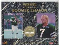 Boomer Esiason New York Jets 1993 Quarterback Club Limited Numbered Spectrum With No Gold Signature 8.25X10.5 Photo
